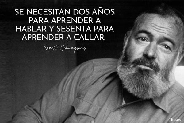 Frases de Ernest Hemingway