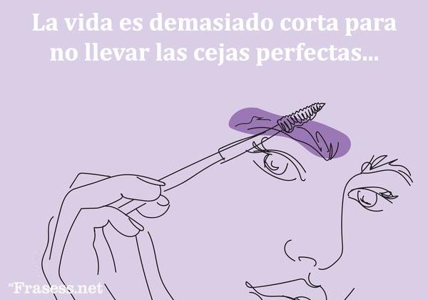 Frases de maquillaje - La vida es demasiado corta para no llevar las cejas perfectas.