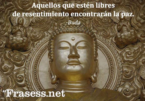 Frases sobre el karma - Aquellos que estén libres de resentimiento encontrarán la paz.
