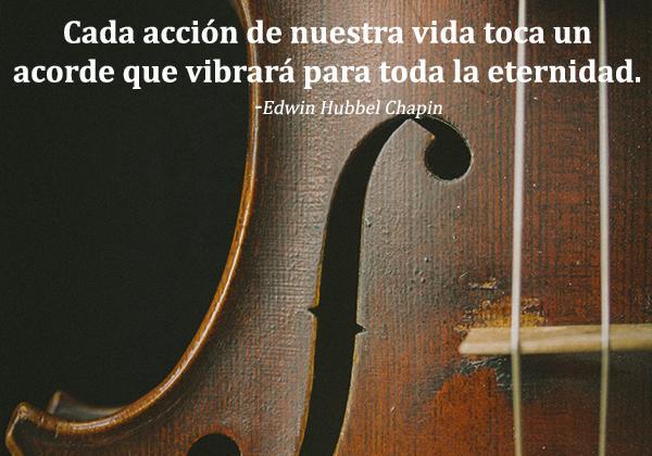 Frases sobre el karma - Cada acción de nuestra vida toca un acorde que vibrará para toda la eternidad.