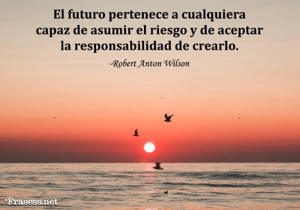 Frases del futuro - El futuro pertenece a cualquiera capaz de asumir el riesgo y de aceptar la responsabilidad de crearlo.