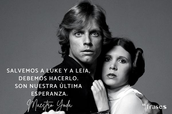 Frases de Yoda - Salvemos a Luke y a Leia, debemos hacerlo. Son nuestra última esperanza.