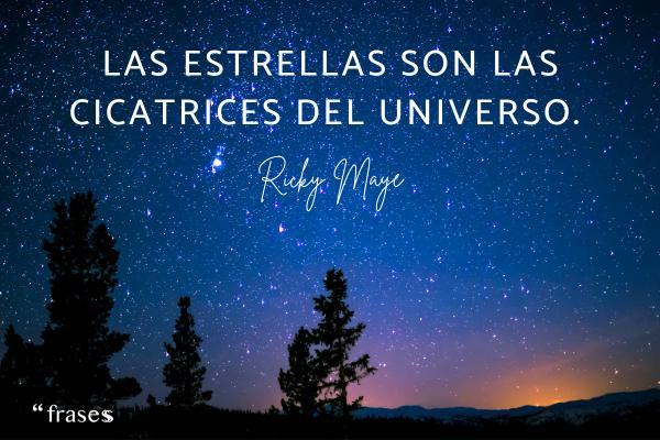 Frases del espacio - Las estrellas son las cicatrices del universo.