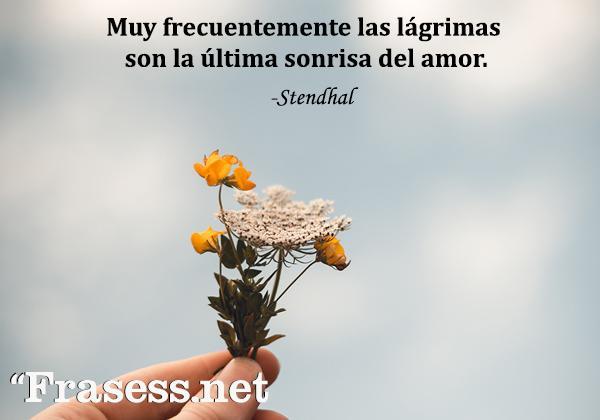 Frases de sonrisas - Muy frecuentemente las lágrimas son la última sonrisa del amor.