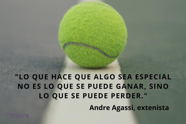 Frases de deportistas famosos - Lo que hace que algo sea especial no es lo que se puede ganar, sino lo que se puede perder.