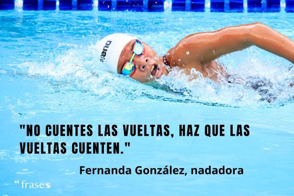 Frases de deportistas famosos - No cuentes las vueltas, haz que las vueltas cuenten.