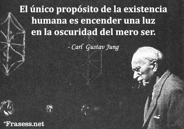Frases de Carl Jung - Por lo que podemos discernir, el único propósito de la existencia humana es encender una luz en la oscuridad del mero ser.