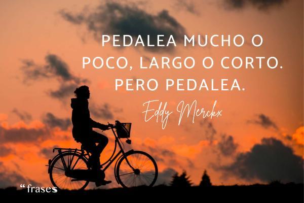 Frases de ciclismo - Pedalea mucho o poco, largo o corto. Pero pedalea.
