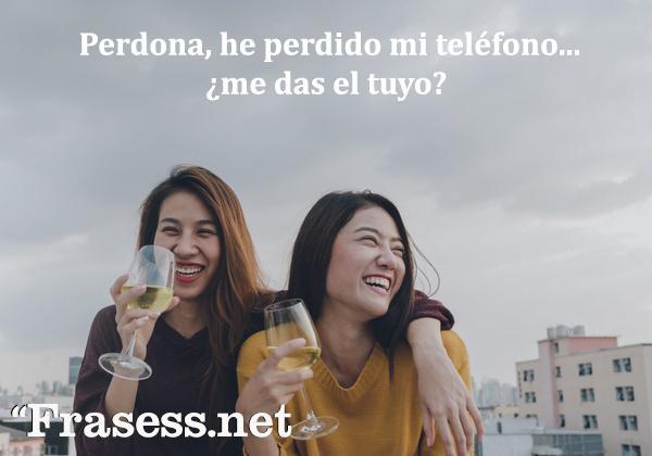 Frases graciosas - Perdona, he perdido mi teléfono, ¿me das el tuyo?