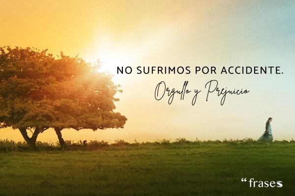 Frases de Orgullo y Prejuicio - No sufrimos por accidente.