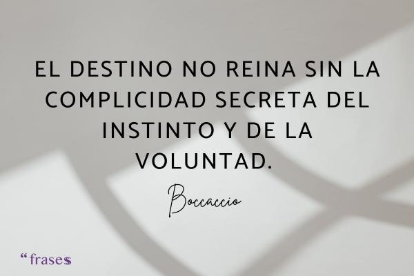 Frases de complicidad en el amor - El destino no reina sin la complicidad secreta del instinto y de la voluntad.