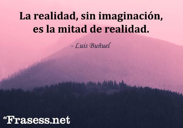 Frases chidas cortas - La realidad, sin imaginación, es la mitad de realidad.