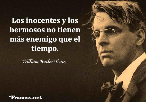 Frases de inocencia - Los inocentes y los hermosos no tienen más enemigo que el tiempo.