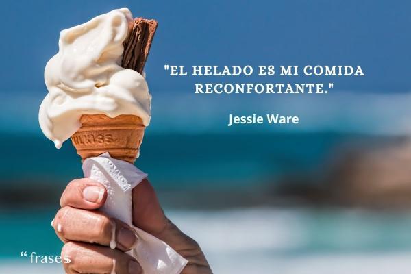 Frases de helados - El helado es mi comida reconfortante.