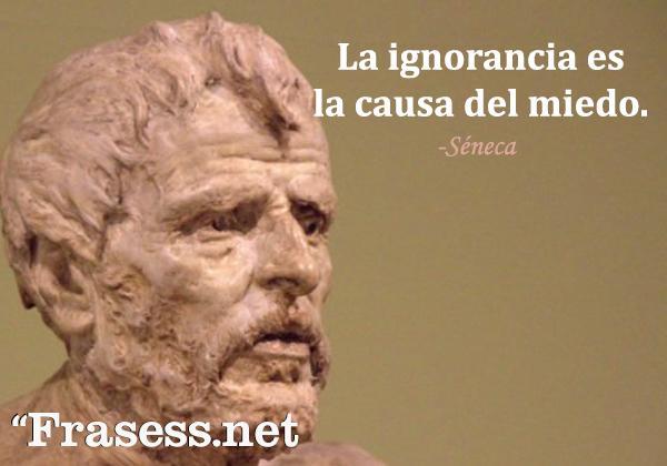 Frases de Séneca - La ignorancia es la causa del miedo.