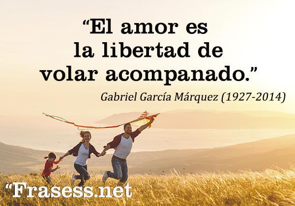 Frases de libertad - El amor es la libertad de volar acompañado.