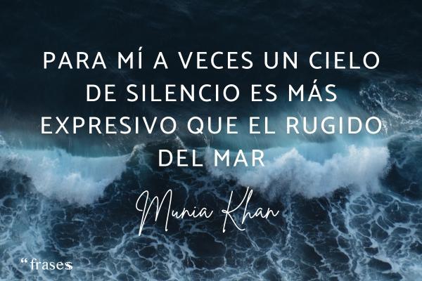 Frases de relajación - Para mí a veces un cielo de silencio es más expresivo que el rugido del mar.