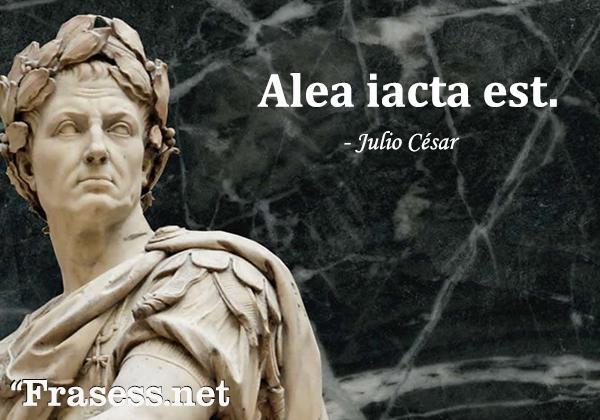 Frases en latín traducidas - Alea iacta est. (La suerte está echada)