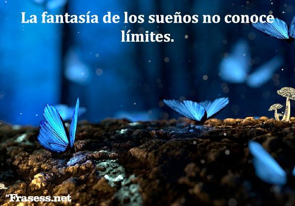 Frases de fantasía y magia - La fantasía de los sueños no conoce límites.