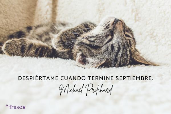 Frases de septiembre - Despiértame cuando termine septiembre.