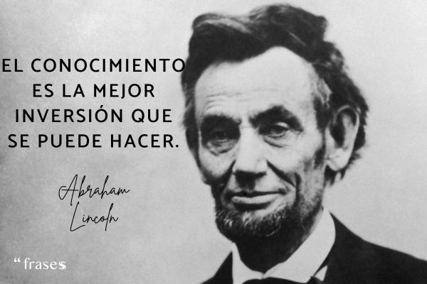 Frases célebres de Abraham Lincoln
