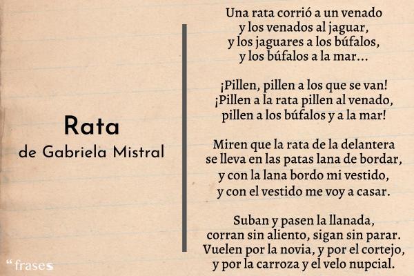 Poemas de Gabriela Mistral - La rata