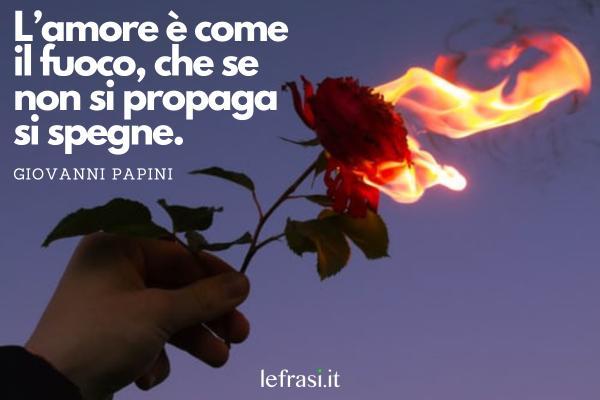 Frasi sul fuoco - L'amore è come il fuoco, che se non si propaga si spegne.