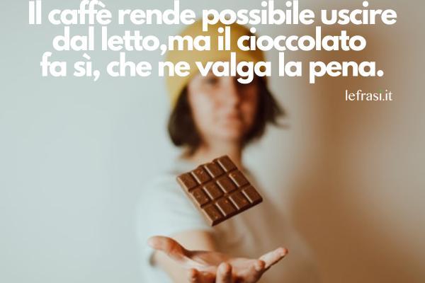 Frasi sul cioccolato