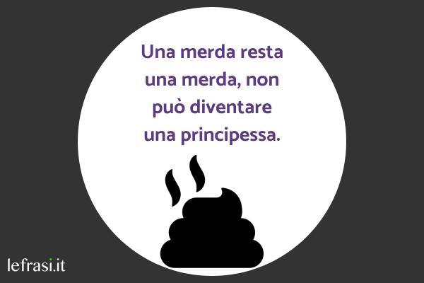 Frasi Stronze - Una merda resta una merda, non può diventare una principessa.